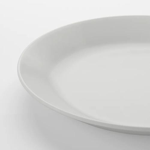 IKEA OFTAST Plate, white, 25 cm