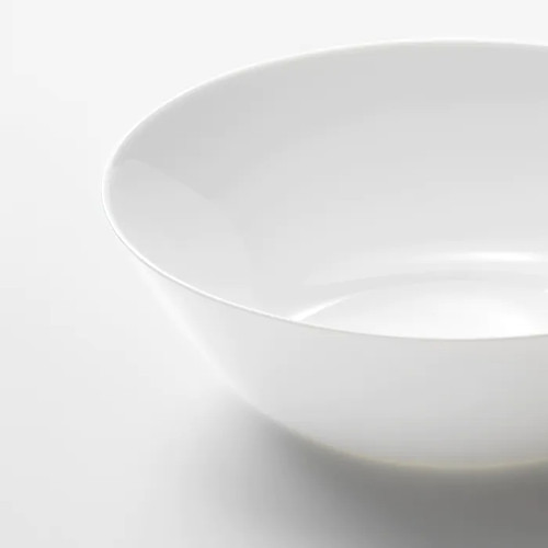 IKEA OFTAST Serving bowl, white, 23 cm