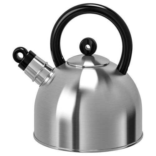 IKEA VATTENTÄT Kettle, stainless steel, black, 2 l