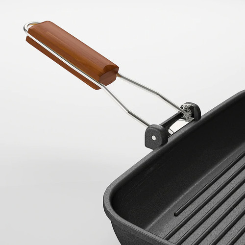 IKEA GRILLA Grill pan, black, 36x26 cm