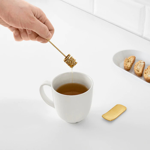IKEA TRÅDLÖS Honey drip and tea measure, brass