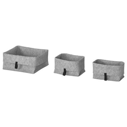 IKEA RAGGISAR Basket, set of 3, grey