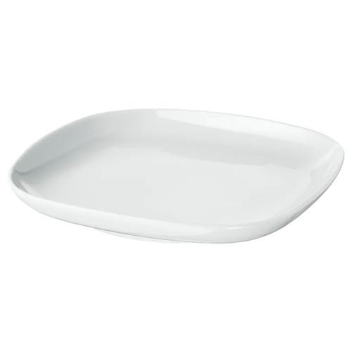 IKEA VÄRDERA Side plate, white, 18x18 cm