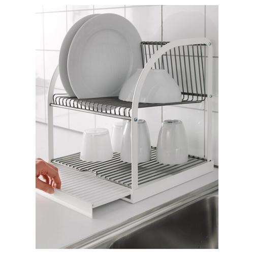 IKEA BESTÅENDE Dish drainer, silver-colour, white, 32x29x36 cm