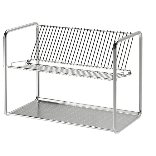 IKEA ORDNING Dish drainer, stainless steel, 50x27x36 cm