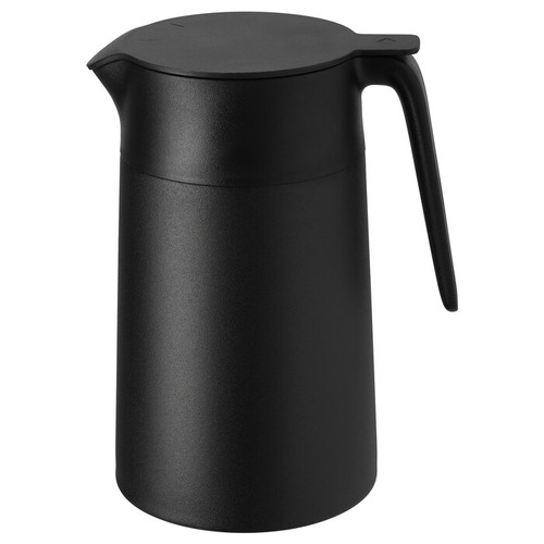 IKEA UNDERLÄTTA Vacuum flask, black, 1.2 l