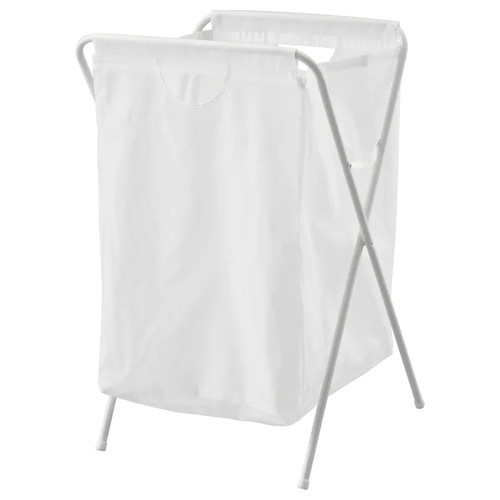 IKEA JÄLL Laundry bag with stand, white, 70 l