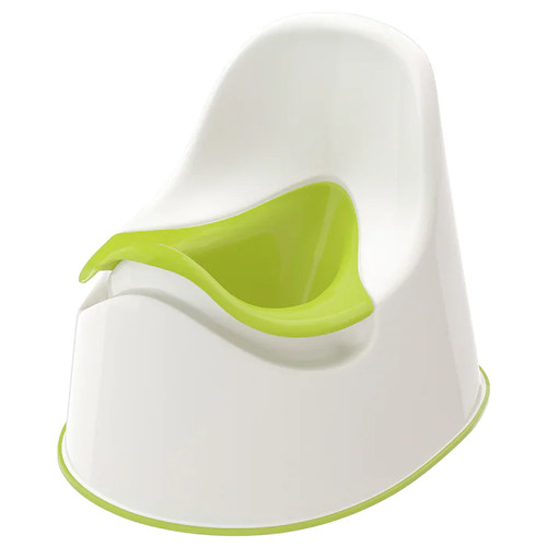 IKEA LOCKIG Children's potty, white green, green