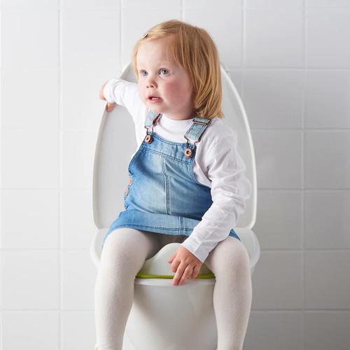 IKEA TOSSIG Toilet seat, white, green