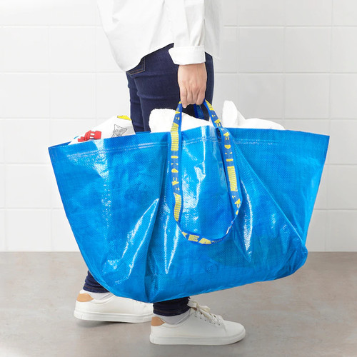 IKEA FRAKTA Carrier bag, large, blue, 71 l
