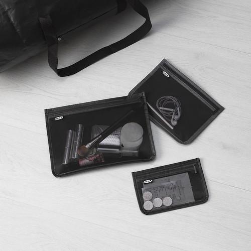 IKEA BRODERLIG Accessory bag, set of 3