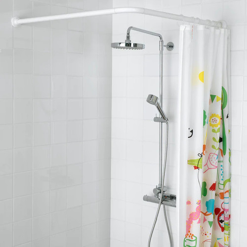 IKEA VIKARN Shower curtain rod, white