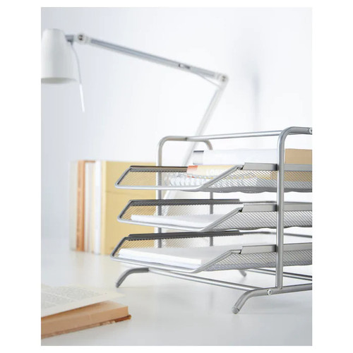 IKEA DOKUMENT Letter tray, silver-colour