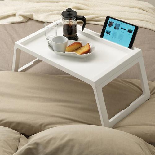 IKEA KLIPSK Bed tray, white