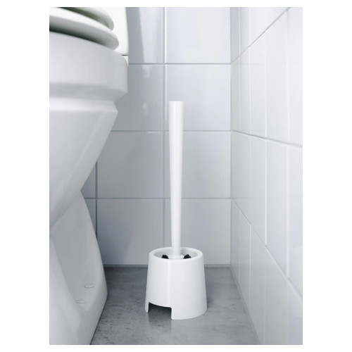 IKEA BOLMEN Toilet brush/holder, white