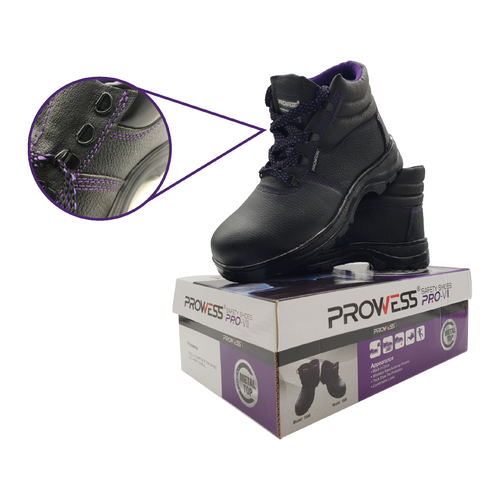 Prowess 200# high top safety shoes sz:7/41