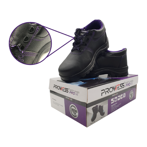 Prowess 100# low top safety shoes sz:8/42