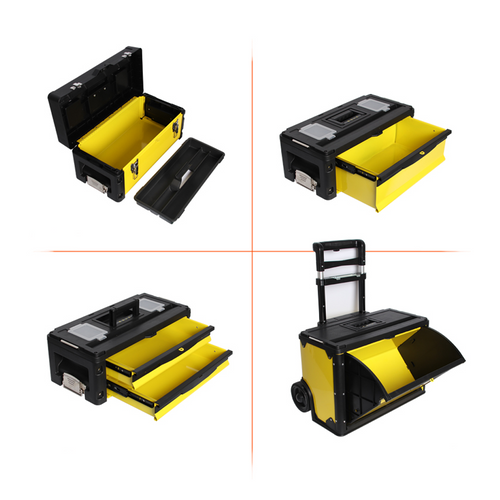 903 6 Layer Yellow Trolley Toolbox
