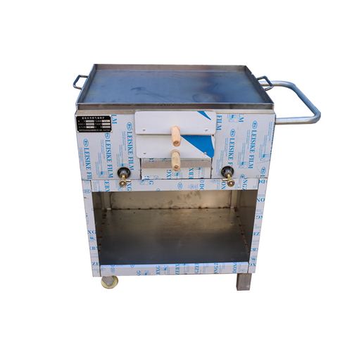 S/S Hot Plate With Wheels