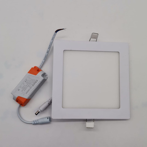 Conceal square led panel light 12w (warm white) 6""