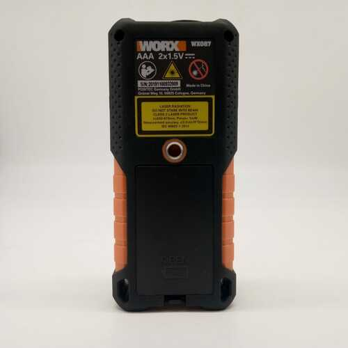 Worx WX087 1.5V 40m laser range finder