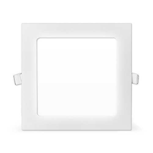 Master-II square slim recessed 12W LED panel downlight daylight