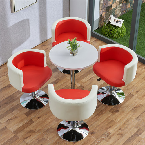 Round Wooden Table & Chair Set (Red)