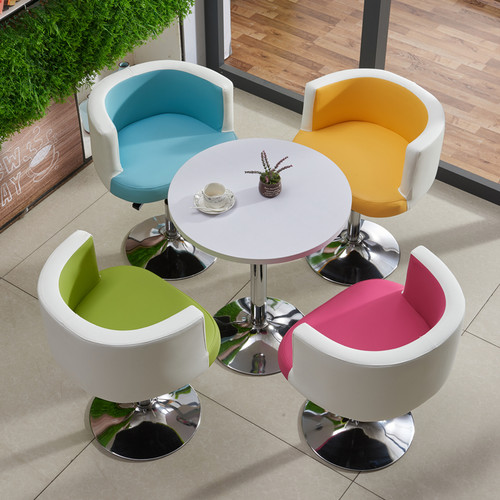 Round Wooden Table & Chair Set (Mix Color)