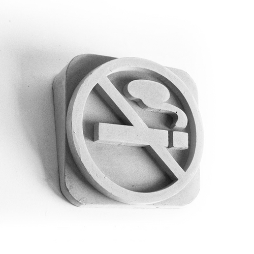"""No Smoking"" Cement Wording"