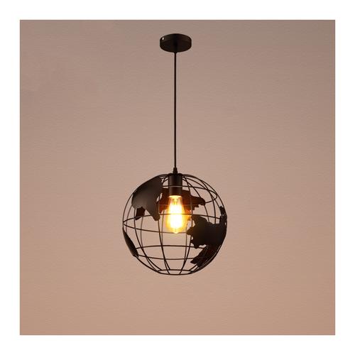 Round Pendant Light D5022 20cm Black