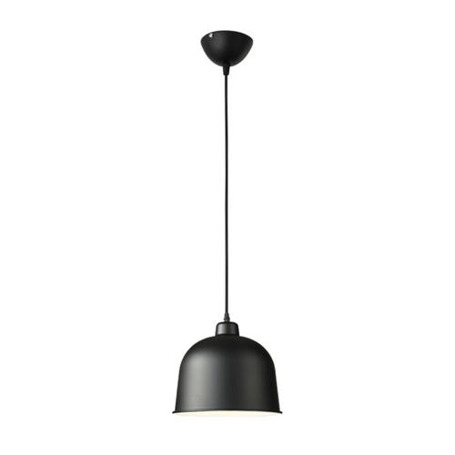 Half-Round Pendant Light B05 25cm Black