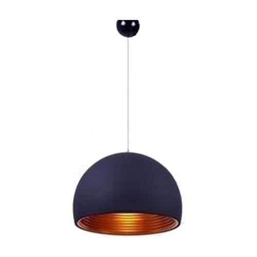 Half round pendant light 25cm black
