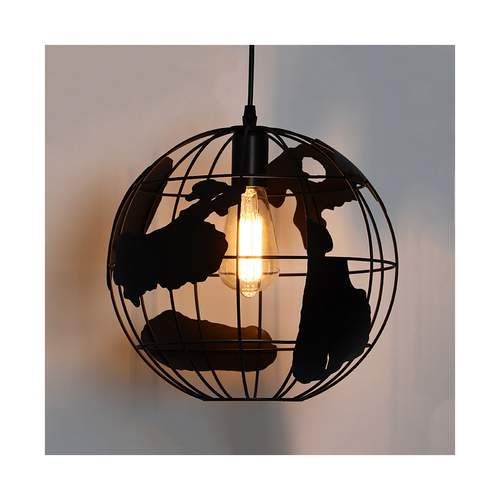 Metal ball cage pendant light td14621 black 30cm