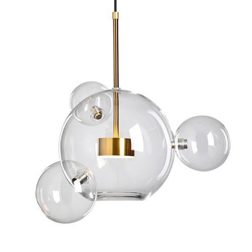 Glass bubble pendant light