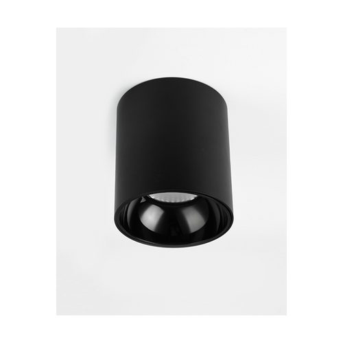 12w led cylinder downlight black 16cm daylight