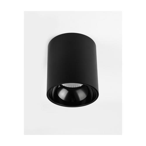 18w led cylinder downlight black 17cm warm light