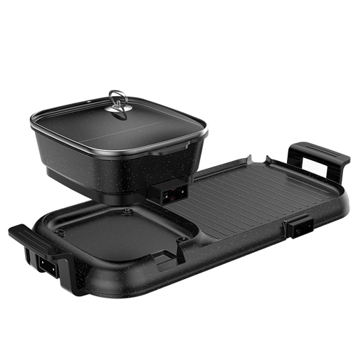 2 in 1 electric grill with yuanyang hotpot