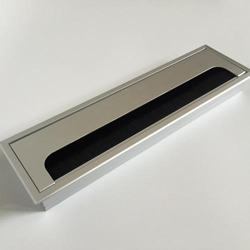 Aluminium desk grommet 80x280mm