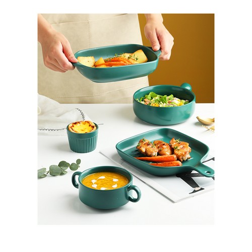 5pcs Ceramic Baking Tray Set GB-604 Green
