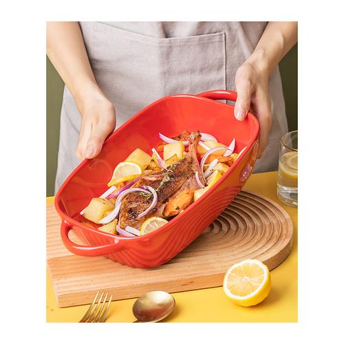 Ceramic Rectangular Baking Tray SF331 Red