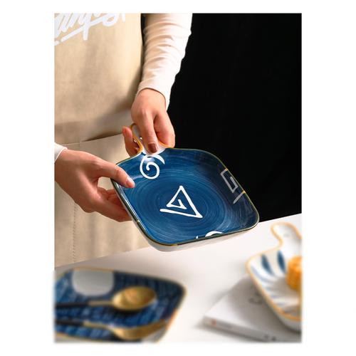 Ceramic Square Baking Tray SR282 Blue