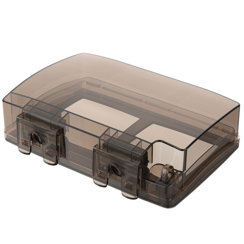 FDUN IP 55 Exterior DBL Electric box Black