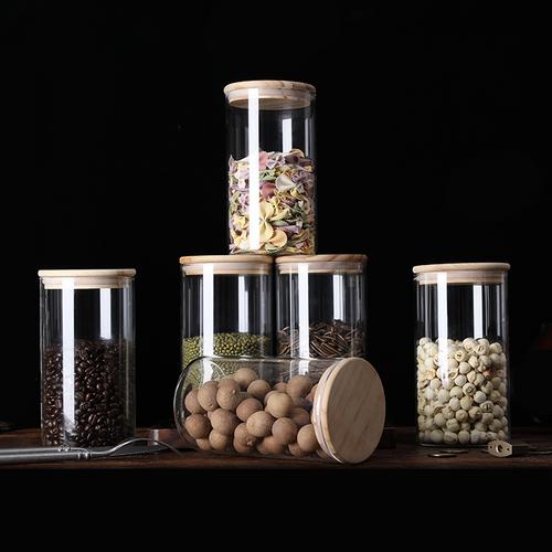 Wooden Lid Glass Jar 1200ml