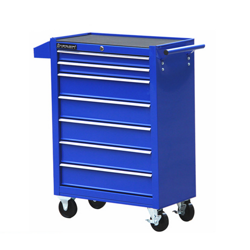 7 Layer Blue Trolley Toolbox