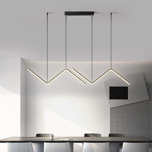 Arrow pendant light 90cm black