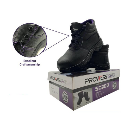 Prowess 200# high top safety shoes sz:6/40