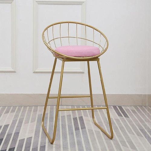 Nordic High Chair 75Cm Pink
