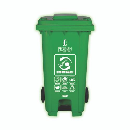 Penguin Hygienic Recycle Bin 120L (Green) - Kitchen waste