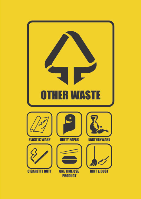 Penguin Hygienic Recycle Bin 120L (Yellow) - Other waste