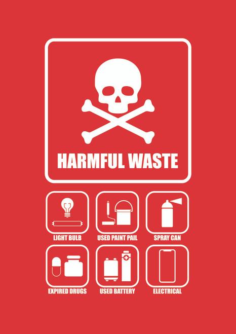 Penguin Hygienic Recycle Bin 120L (Red) - Harmful Waste